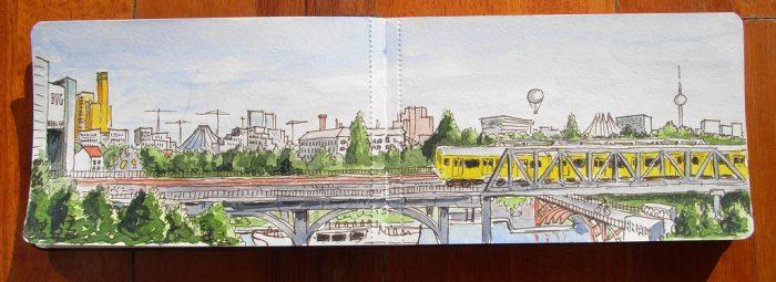 View from the terrace of the Deutsche Technikmuseum. From Posdamerplatz to Alexanderplatz by Hillman54