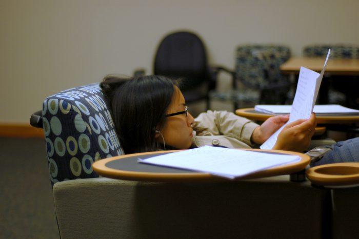 В перерывах между учебой
