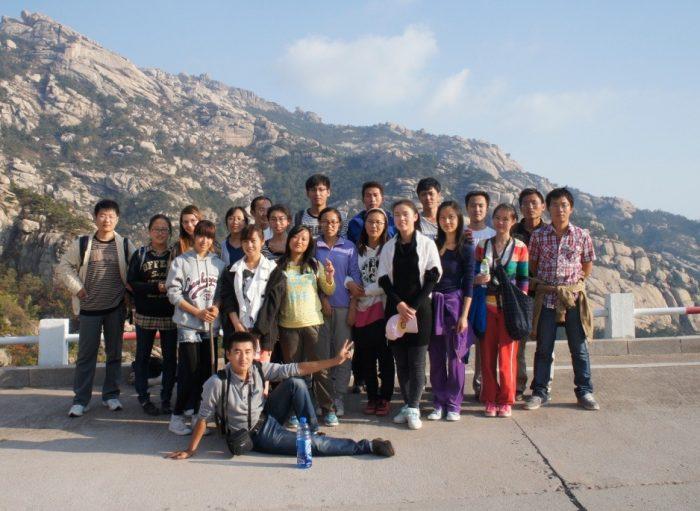 На горе Лаошань с группой китайских студентов
