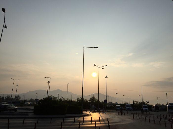 Утренний город Салоники