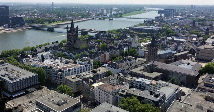 Вид с башни Кёльнского собора