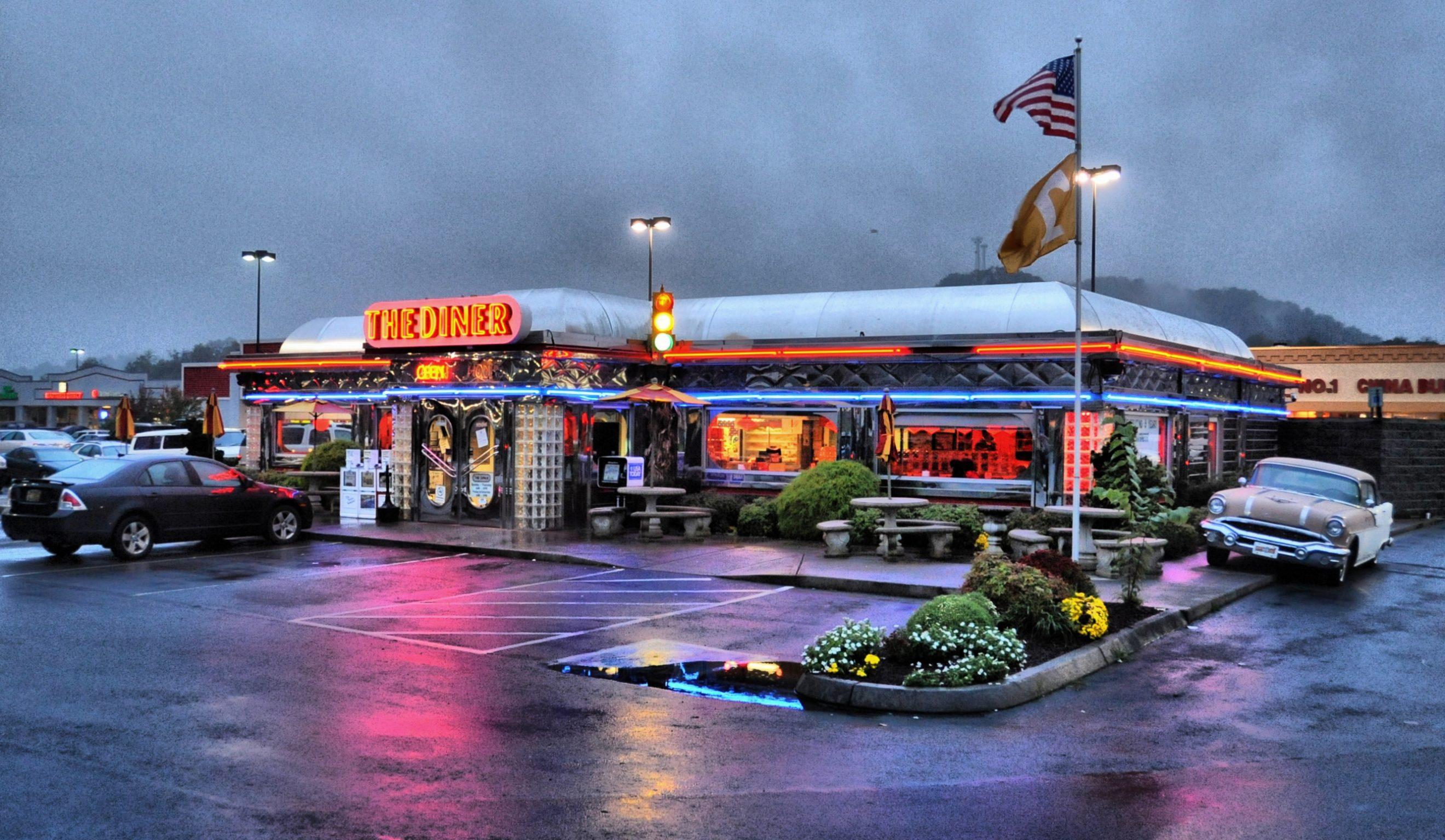 Те самые маленькие кафешки, которые американцы называют «diners»