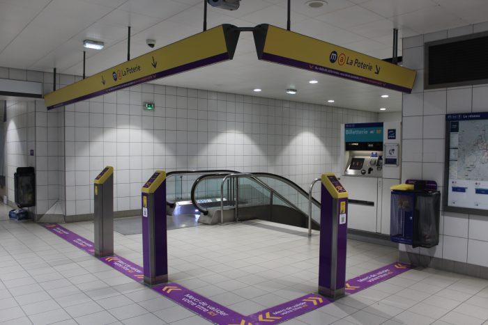 Вход в метро, станция Clemenceau