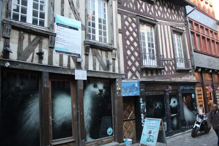 Улица Pont aux Foulons и фахверковые дома, исторический центр Ренна