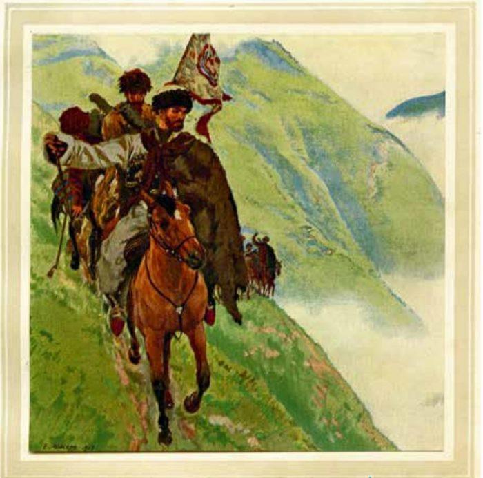 Illustration to Leo Tolstoy's «Hadji-Murat» by Eugene Lanceray (1913)