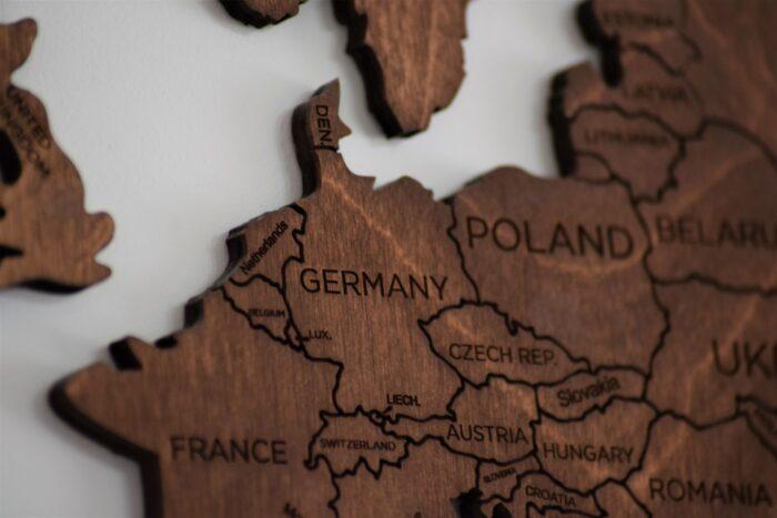 Какое место Германия занимает на карте мира?
