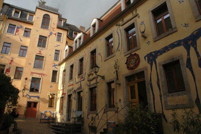 Двор мифических существ в Дрездене