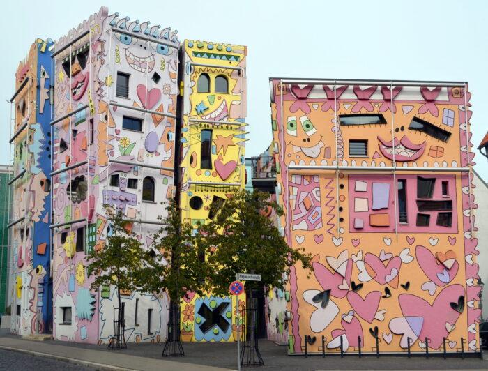 Дом Рицци − сочетание мультипликации и поп-арта.